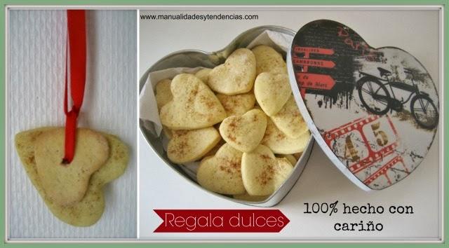 Galletas con forma de corazón para San Valentín