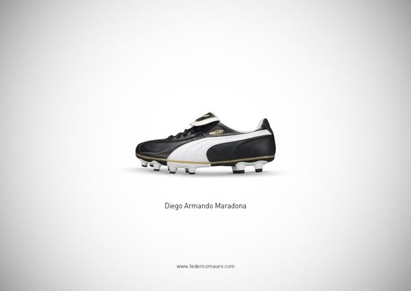Federico Mauro. Famous Shoes. Maradona