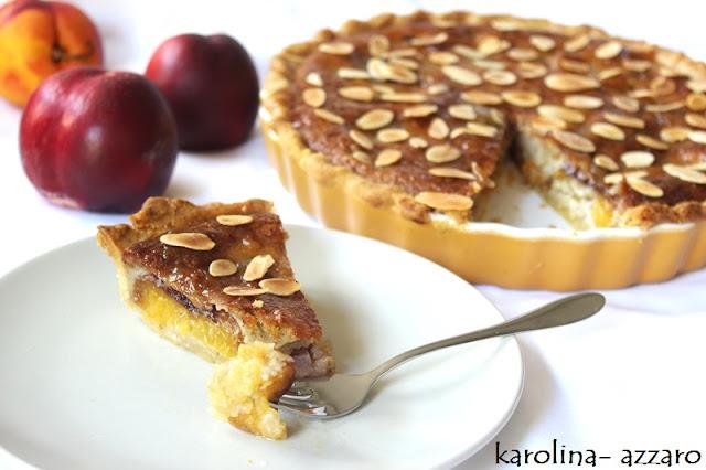 Broskyňovo mandlový Tart