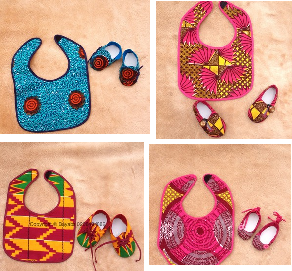 Newborns Ankara Designs: Baby Aprons and Bibs