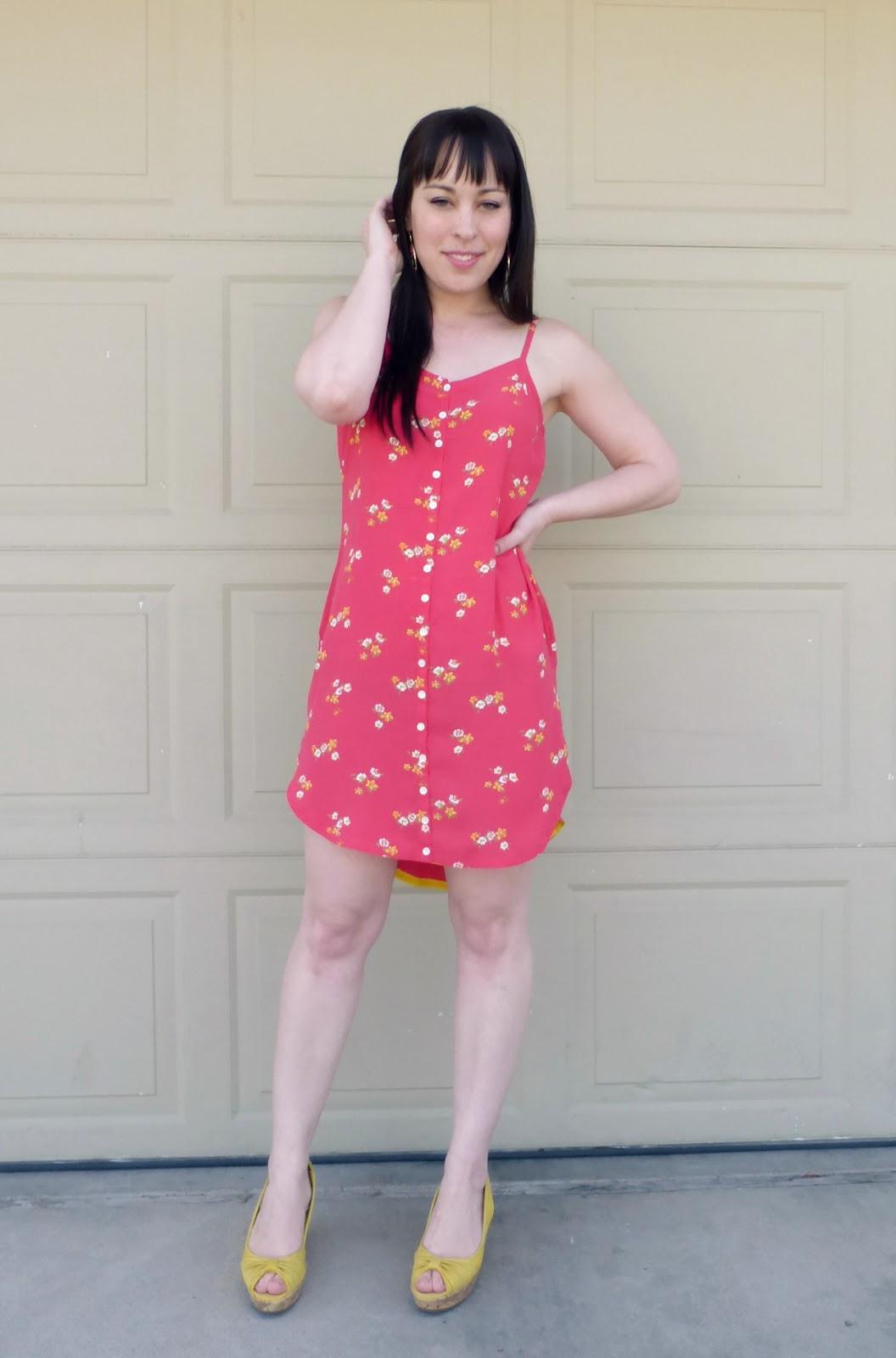 refashioned pink gap dress
