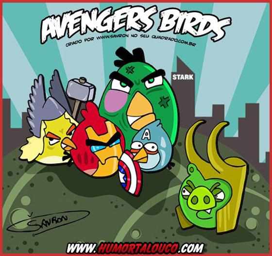 The Avengers (Os vingadores) versão Angry Birds