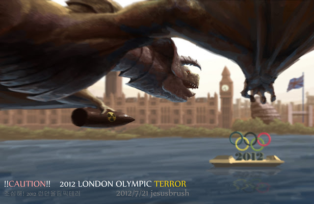 CAUTION !! 2012LONDON OLYMPIC TERROR por jesusbrush