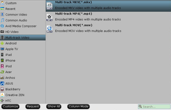 convert multi audio channels mxf to mov, mp4, mkv