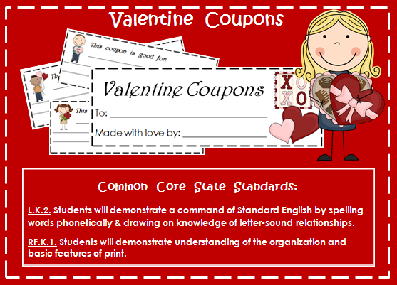 http://www.teacherspayteachers.com/Product/Valentine-Coupon-Booklet-A-writing-activity-for-little-writers-522136