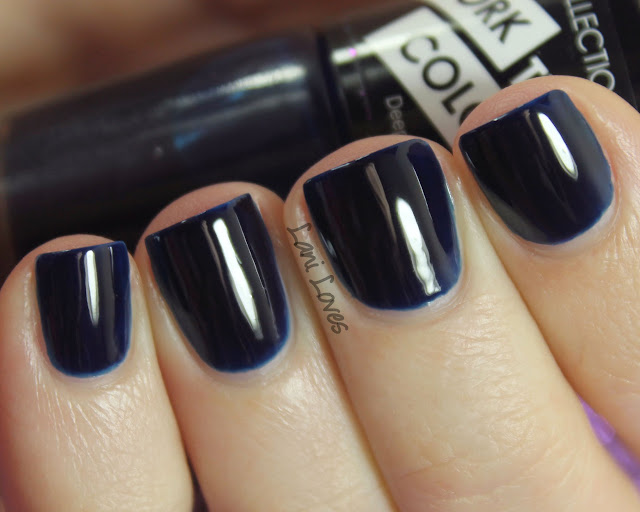 Collection Work the Colour Deep Blue Sea Nail Polish Swatches & Review