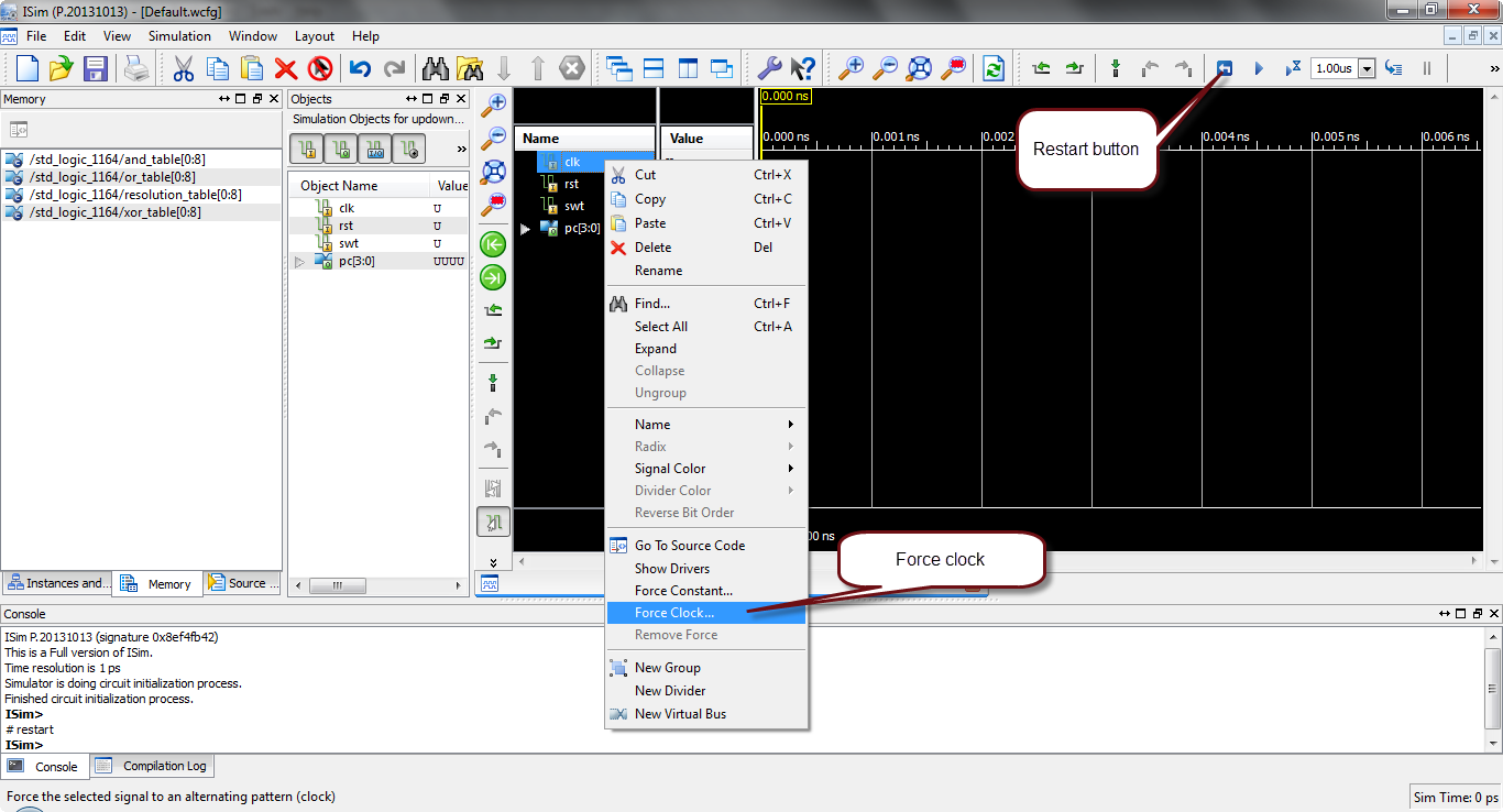 how to simulate vhdl code in xilinx?16
