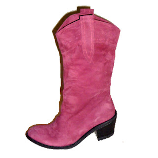 cizme ghete dama roz din piele naturala