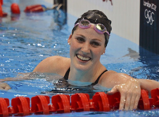 Missy Franklin after winning in London Olympic 2012