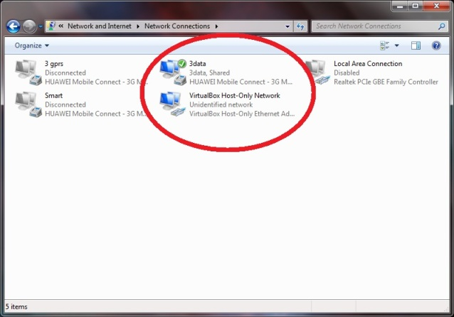how to connect virtualbox to local network