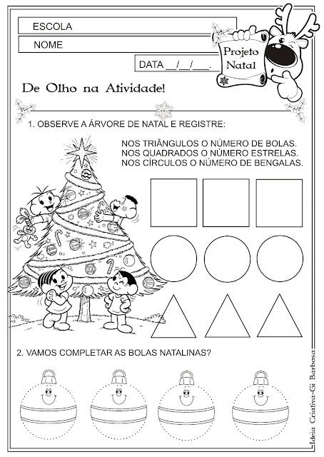 Atividade Figuras Geométricas Natal