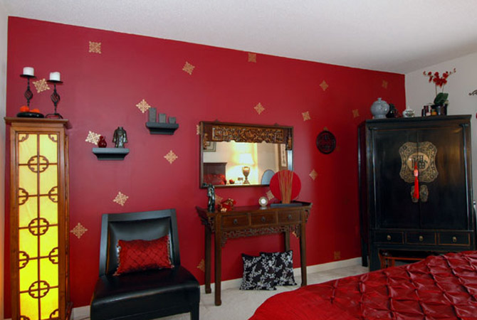 My home design home painting ideas 2012 Red bedroom wall painting ideas