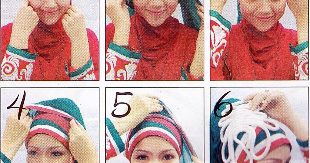 Tutorial tips Jilbab Simple Aksen Lapis   Cara Memakai Jilbab