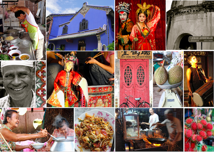 Collage of images from Capturing Penang