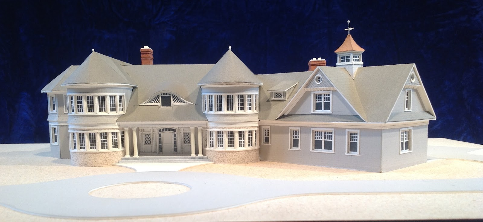 Architectural house models of houses in the hamptons long for Model house nyc
