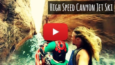 Watch this thrilling High Speed Canyon Jet Skiing along the rocky edges of Lake Powell via geniushowto.blogspot.com extreme sports videos