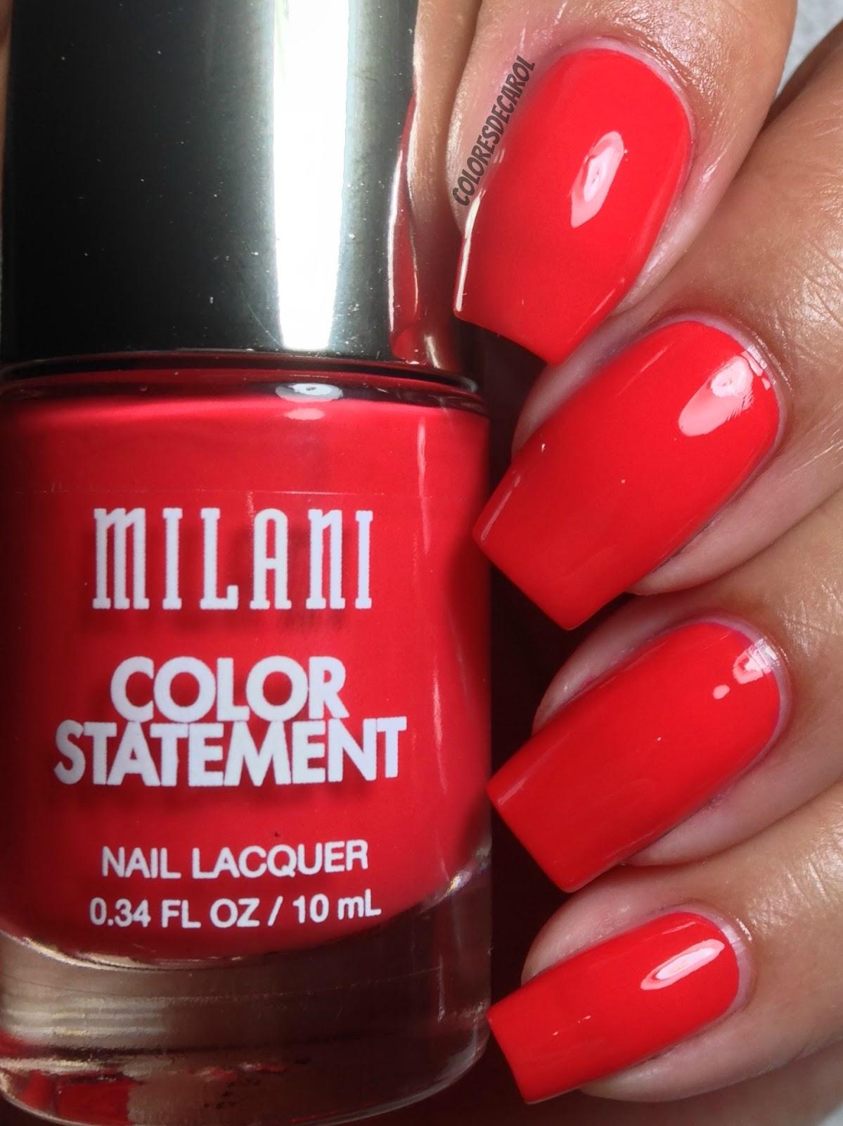 Colores de Carol: Milani Color Statement - Part Four (The Reds)