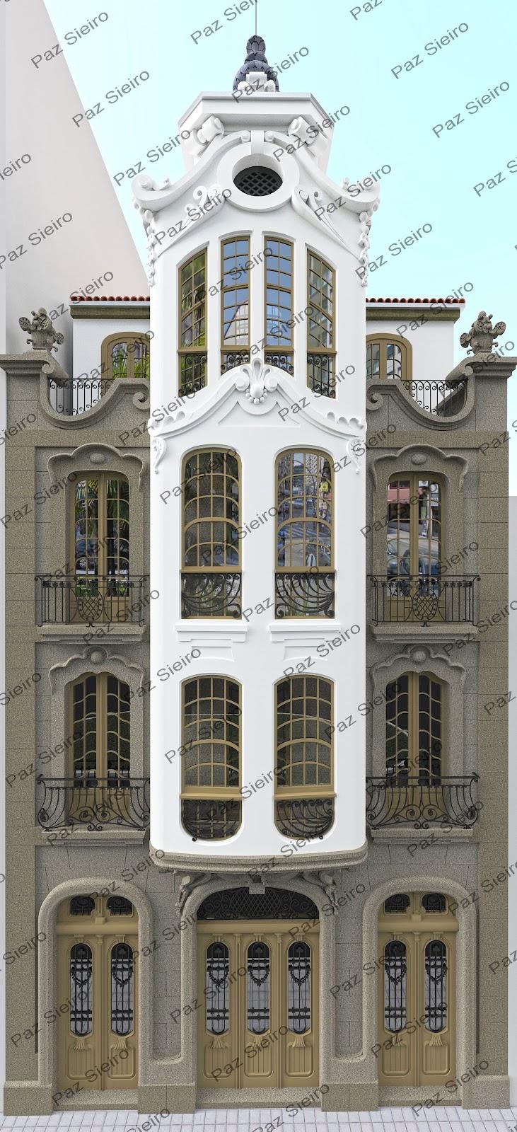 Ourense 3d edificio taboada 1918 r a progreso ourense - Arquitectos ourense ...