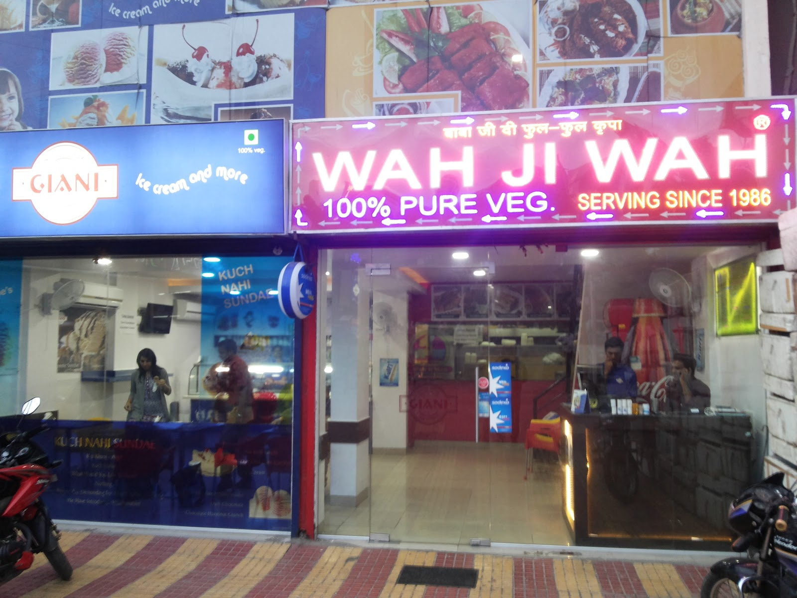 Delicious snacks at Wah Ji Wah with Giani Sundaes
