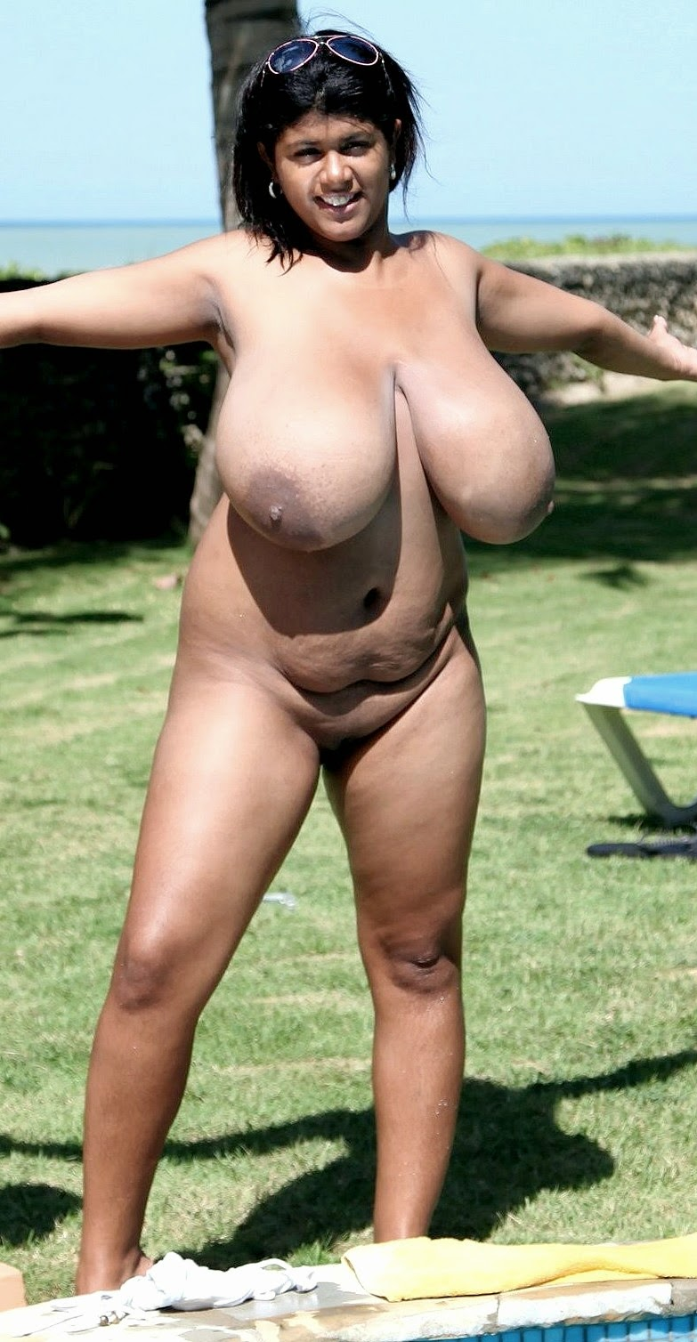 Gigantische schwarze Hänge Titten