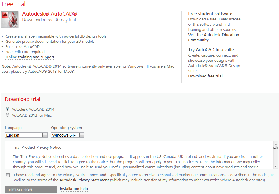 autocad 2014 for mac free download full version