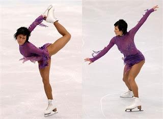 Łyżwiarka figurowa na lodzie