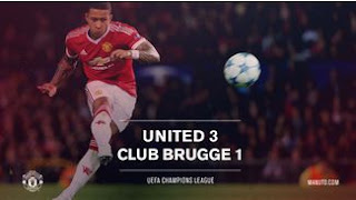Memphis Depay Man of The Match MU vs Brugge 3-1