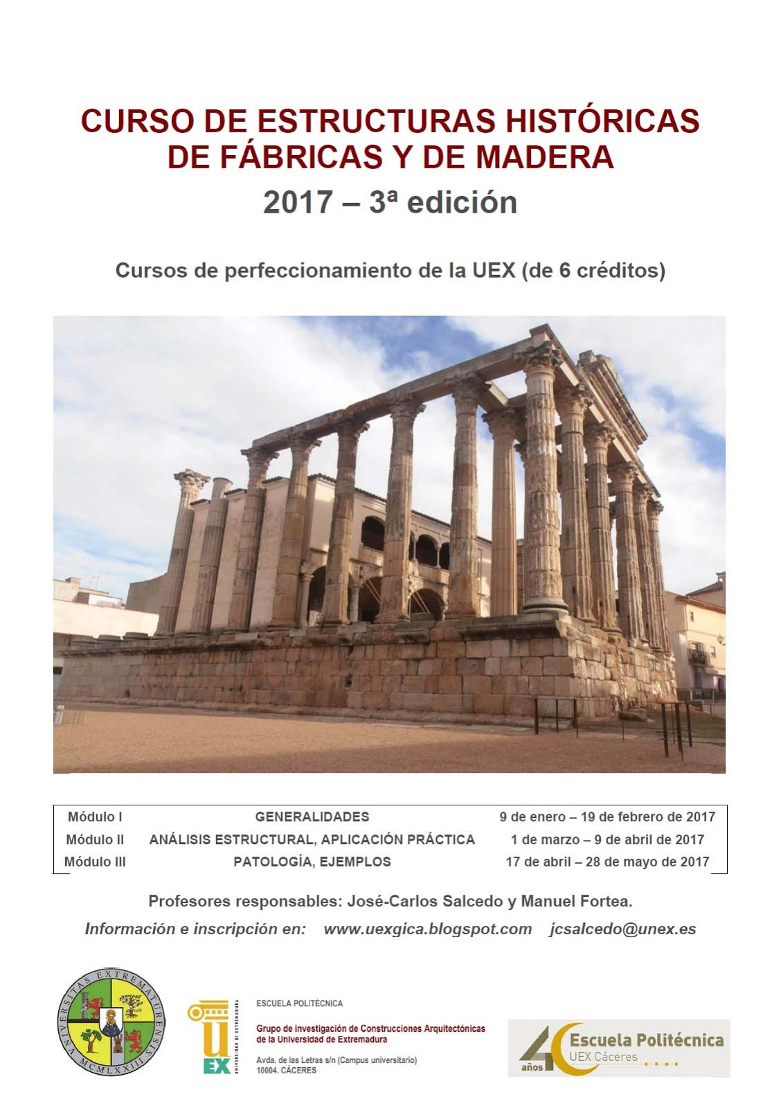 CURSO DE ESTRUCTURAS HISTÓRICAS