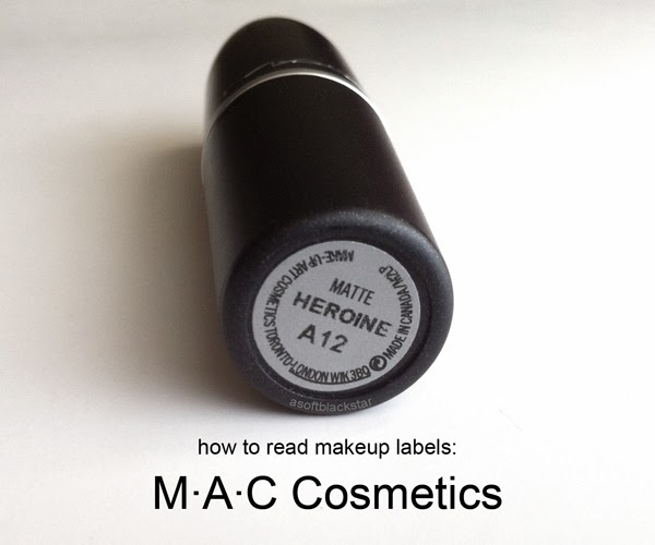 How to Read a MAC Cosmetics label batch code