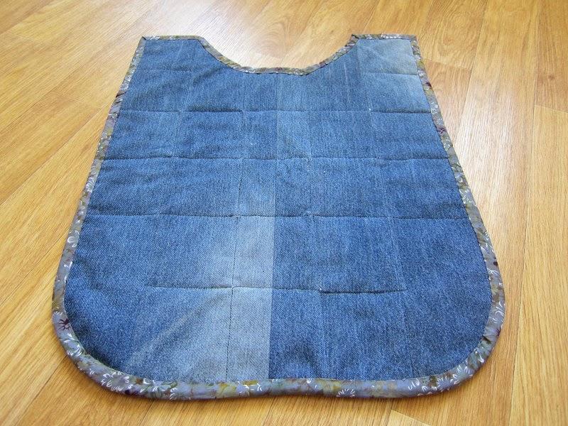Пляжный коврик сшить из старых джинсов 90