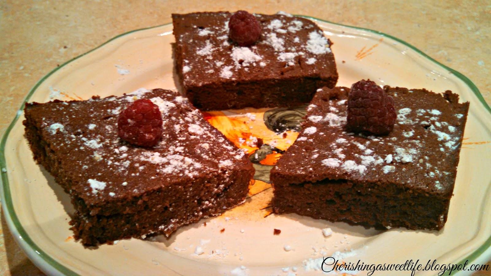 Cherishing A Sweet Life: Easy Dark Chocolate Nutella Brownies