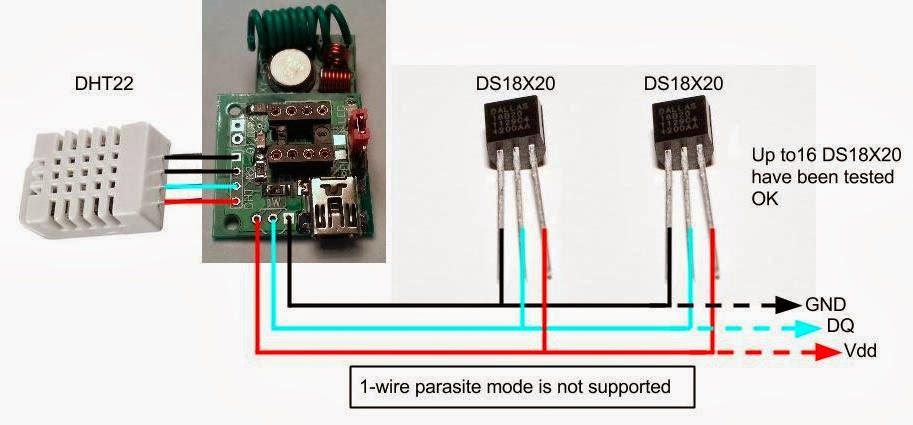 1-Wire Humidity Sensor | Foogadgets Connection Guide For The Wireless Multi Sensor
