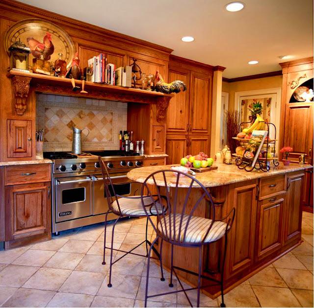 Интерьеры кухни в стиле кантри фото