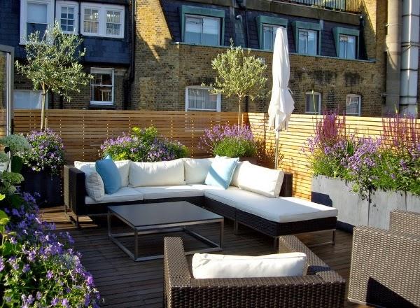 Dise ar un patio o una terraza guia de jardin - Diseno de porches y terrazas ...