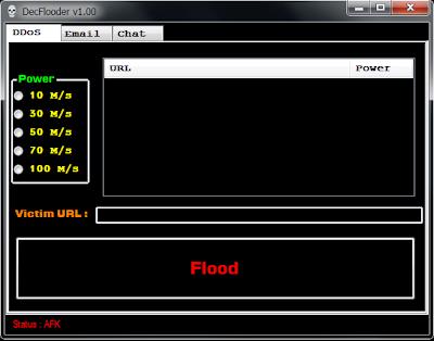 DecFlooder v1.00 - Email Bomber/DDoS/Spam