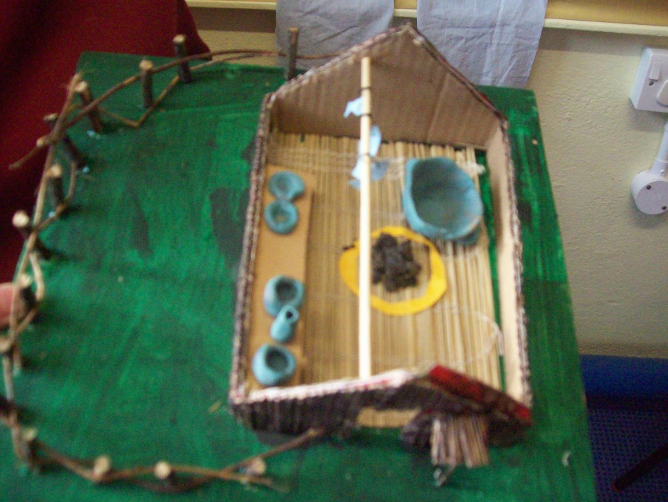 Anglo saxon house model