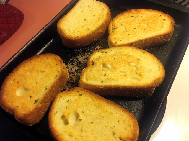 , how much easier could this get? Cook the french bread garlic toast ...