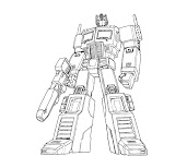 #4 Transformers Coloring Page