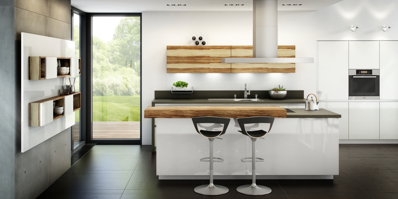 Un toque vital en la cocina blanca cocinas con estilo for Modern german kitchen designs