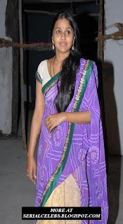 Actress-Singer Smitha in Half Saree