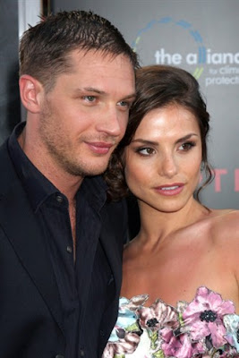 Tom Hardy with Girlfriend