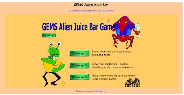 activity 1 gems alien juice bar acids and bases. Black Bedroom Furniture Sets. Home Design Ideas
