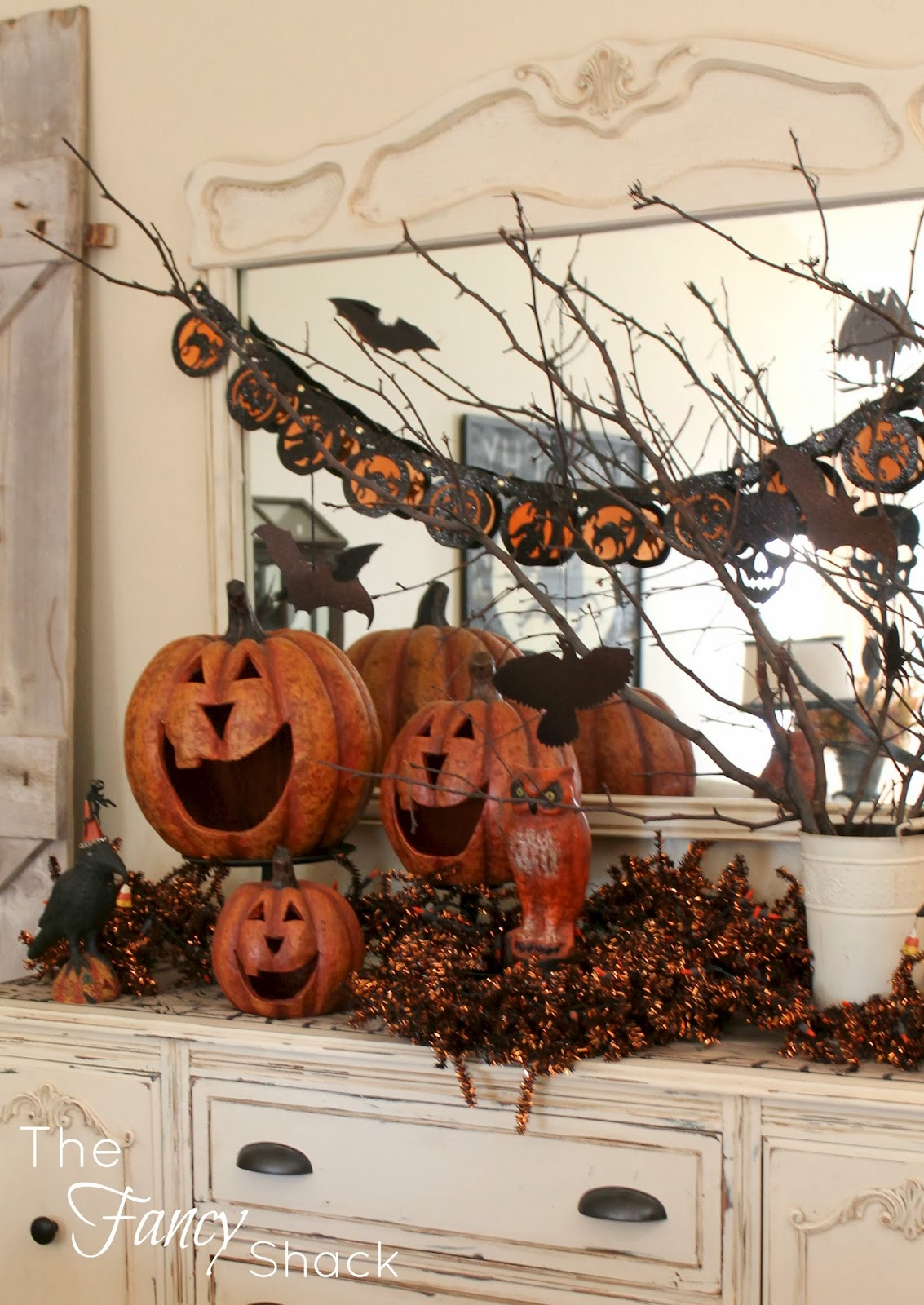 halloween rustic decor and white black full