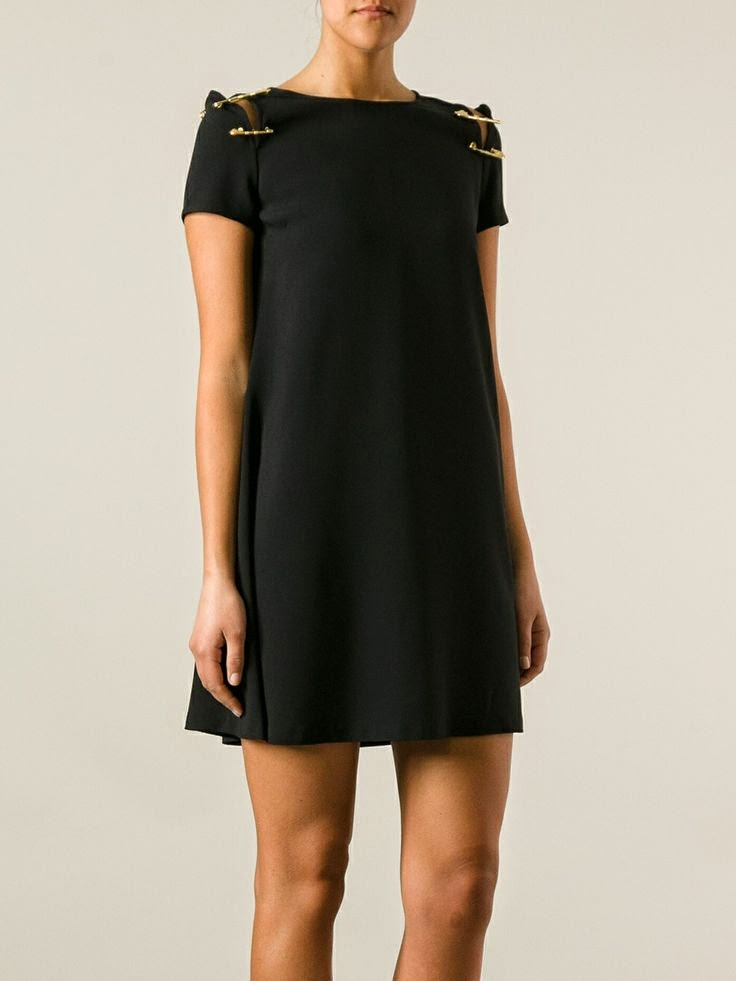 Versus Black Safety Pin Dress
