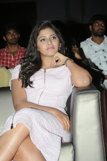 Anjali Tamil Super Beauty in Light Pink Short Dress Spicy Pics