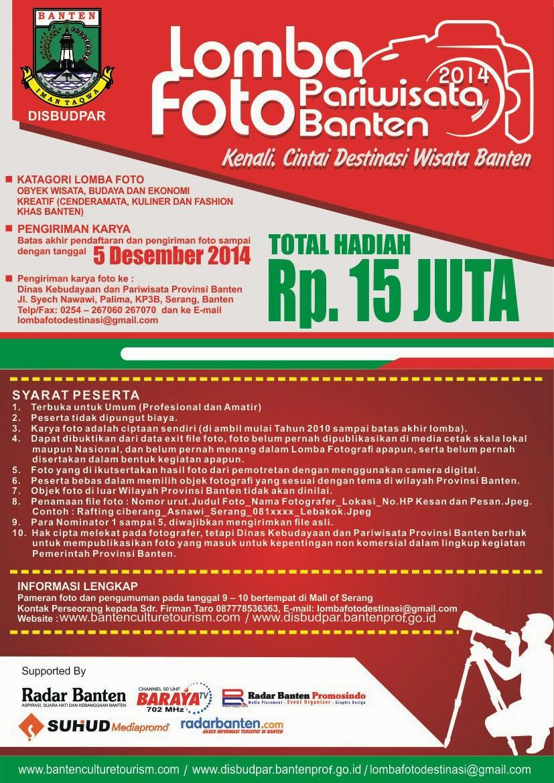 Lomba Foto Destinasi Wisata dan Budaya Provinsi Banten Tahun 2014