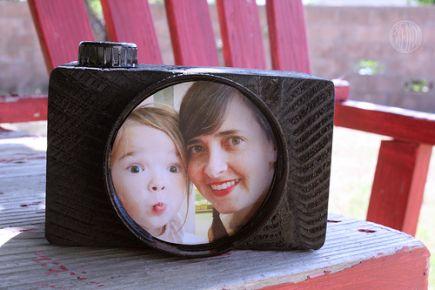 Porta retrato reciclado - Lembrança para o dia dos pais