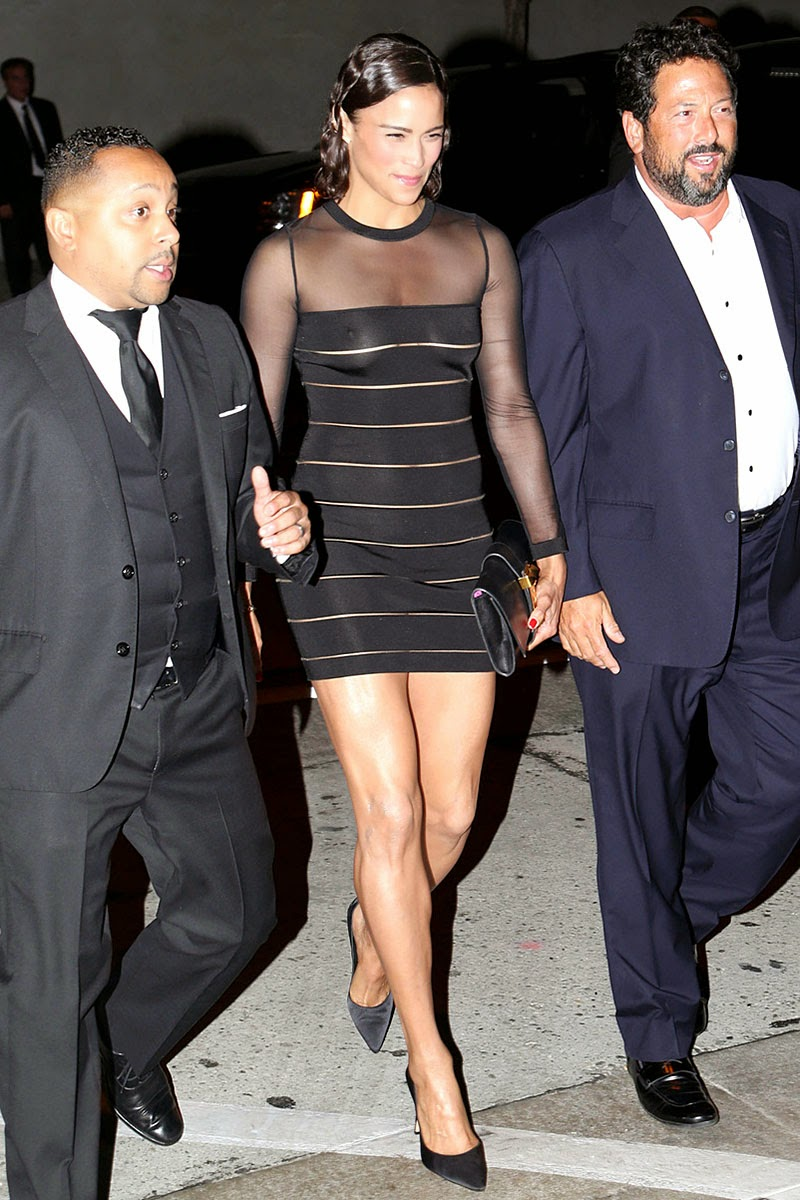Paula Patton wore a see through dress