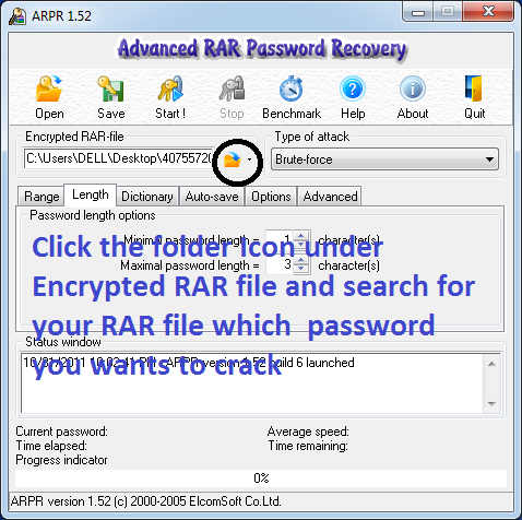 under Encrypted RAR file
