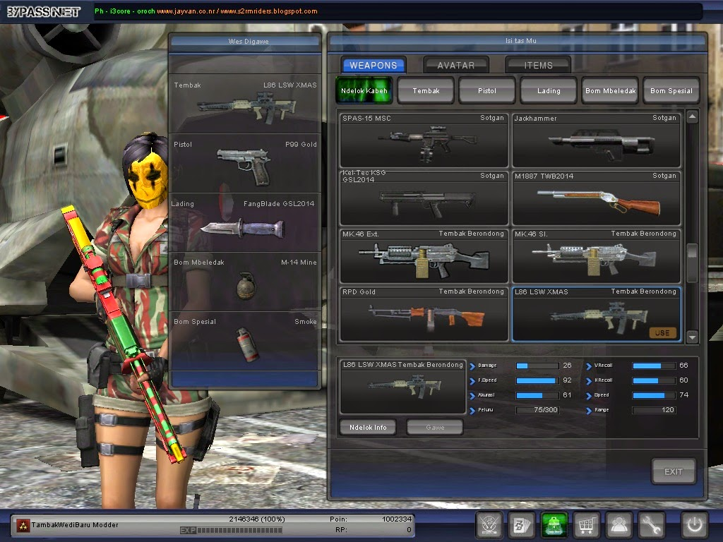 New Weapon XMAS ~ TambakWediBaru Modder